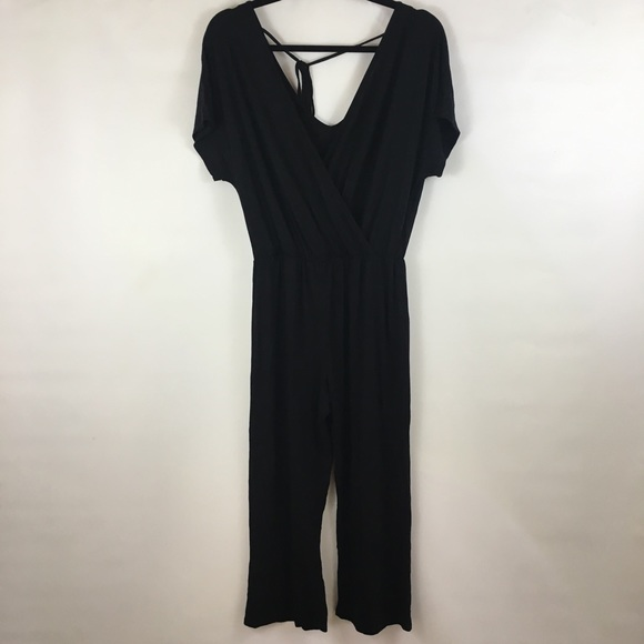 c88e44780b0 NWT Caution To The Wind Black Jumpsuit Large